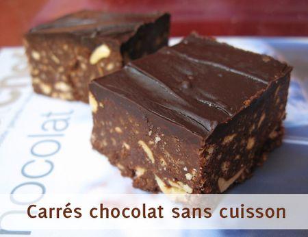 Wonder Sophie Carres Tout Chocolat Sans Cuisson
